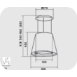 Elica Juno WH/F 51 függő páraelszívó - fehér üveg