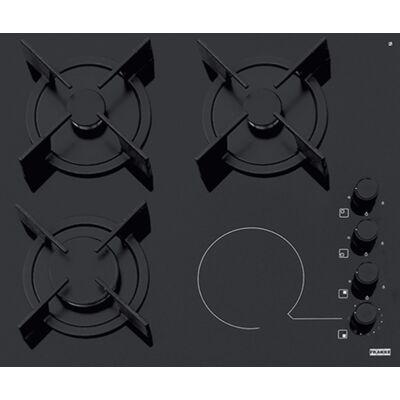 Franke FHX 604 3G 1C BK C beépíthető kombinált elektromos-üveg-gáz főzőlap