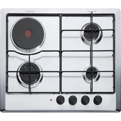 Franke Multi Cooking 600 FHMR 604 3G 1E XS E beépíthető kombinált elektromos-gáz főzőlap