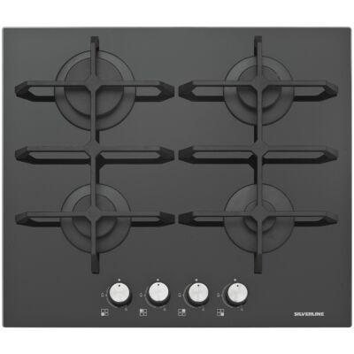 Silverline Mira 60 beépíthető üveg-gáz főzőlap - CS5234.59B - fekete