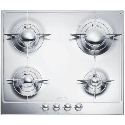 SMEG P64ES beépíthető gáz főzőlap - inox / ezüst