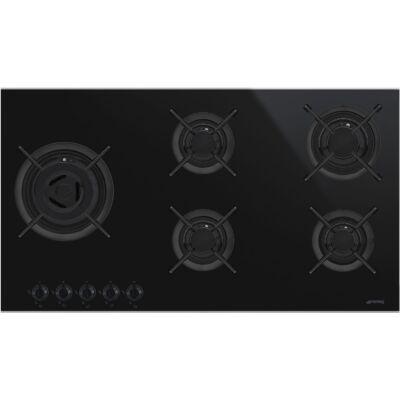 SMEG PV695LCNX beépíthető üveg-gáz főzőlap - fekete / inox