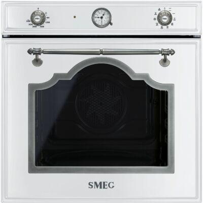 SMEG SF750BS beépíthető rusztikus sütő - fehér / antik ezüst