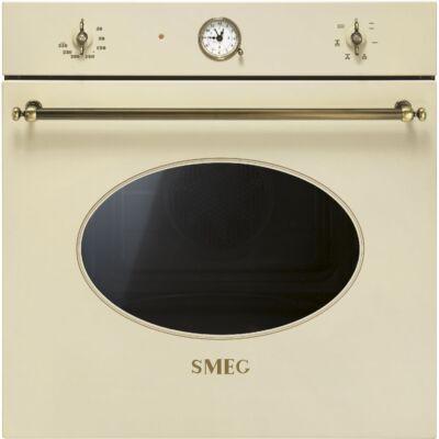 SMEG SF800PO beépíthető rusztikus sütő - bézs