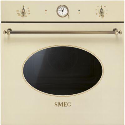 SMEG SFP805PO pirolitikus beépíthető rusztikus sütő - bézs / bronz