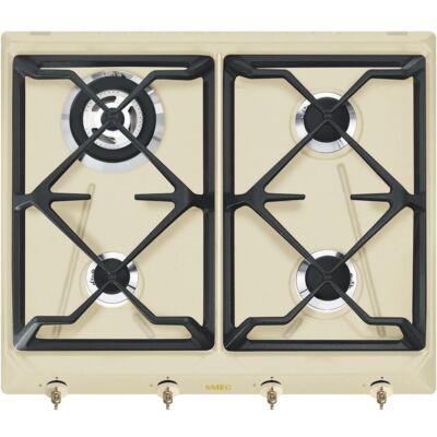 SMEG SRV864POGH beépíthető rusztikus gáz főzőlap - bézs / bronz