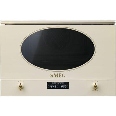 SMEG MP822PO beépíthető rusztikus mikrohullámú sütő - bézs