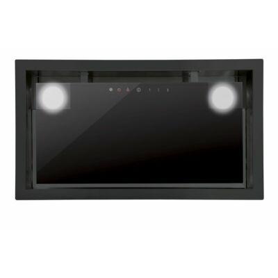 Cata GC DUAL 75/B BK LED felső szekrénybe és kürtőbe építhető páraelszívó - fekete üveg