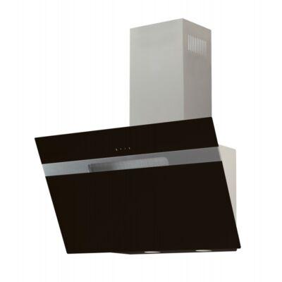 Cata AVLAKI 600 XGBK döntött ernyős fali páraelszívó - inox / fekete üveg