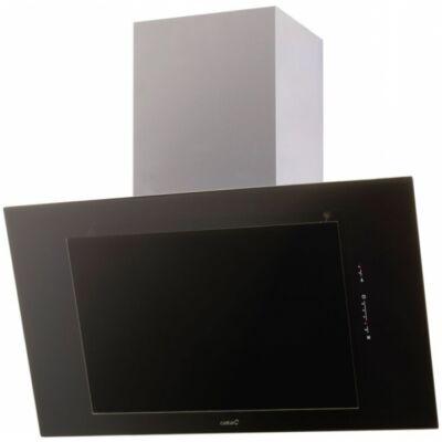 Cata THALASSA 600 XGBK/D döntött ernyős fali páraelszívó - fekete üveg