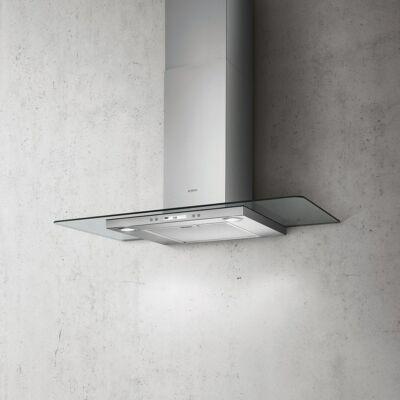 Elica Flat Glass Plus IX/A/60 fali kürtős páraelszívó - inox / üveg
