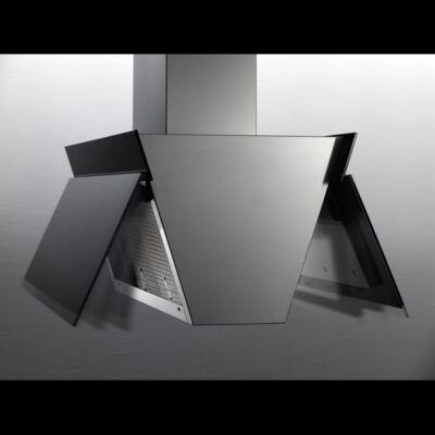 FALMEC BUTTERFLY fali páraelszívó - inox / fekete üveg