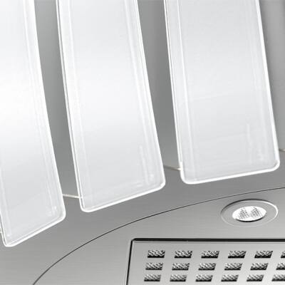 FALMEC PRESTIGE fali páraelszívó - inox / fehér üveg