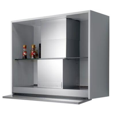 FALMEC MOVE 90 felső szekrénybe és kürtőbe építhető páraelszívó - inox / fehér üveg