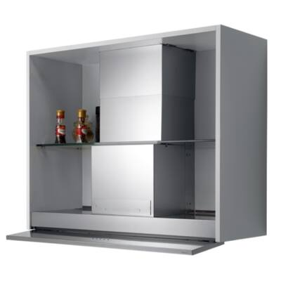 FALMEC MOVE 60 felső szekrénybe és kürtőbe építhető páraelszívó - inox / fehér üveg