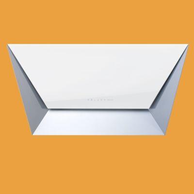 FALMEC PRISMA 85 fali páraelszívó - inox / fehér üveg
