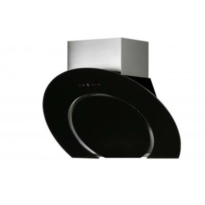 NODOR O2 fali páraelszívó - inox / fekete üveg