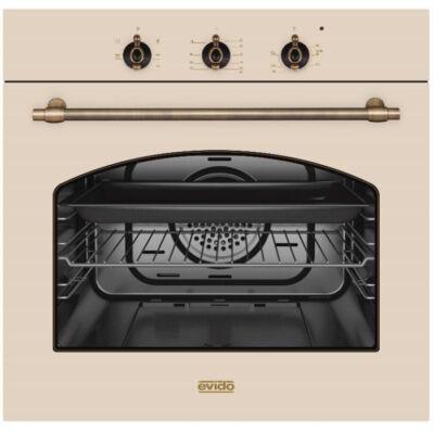 Evido Rustic-O 60C beépíthető rusztikus légkeveréses sütő - bézs
