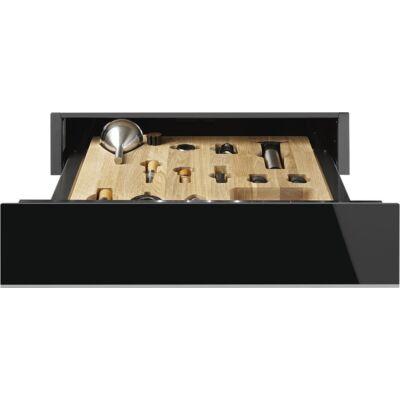 Smeg CPS615NX beépíthető sommelier fiók - fekete üveg / inox