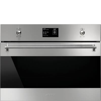 SMEG SF4390VCX1 beépíthető kombinált kompakt gőzpároló sütő