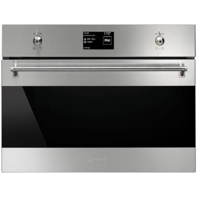 SMEG SF4303WMCX beépíthető kombinált kompakt mikrohullámú sütő