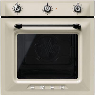 SMEG SF6905P1 beépíthető rusztikus légkeveréses sütő - bézs