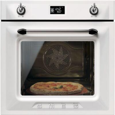 SMEG SF6922BPZE1 beépíthető rusztikus hőlégkeveréses sütő - fehér