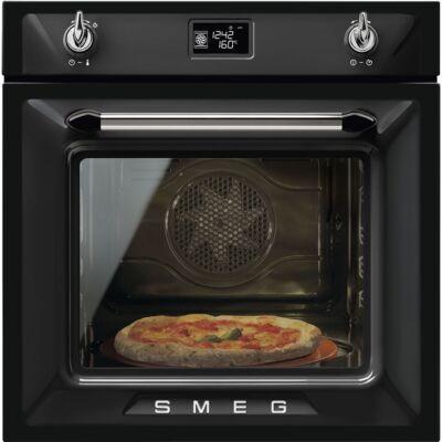 SMEG SF6922NPZE1 beépíthető rusztikus hőlégkeveréses sütő - fekete