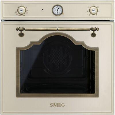 SMEG SF700PO beépíthető rusztikus hőlégkeveréses sütő - bézs / bronz