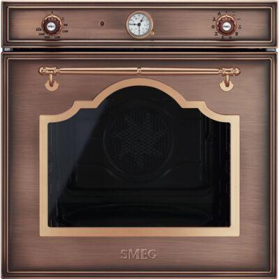 SMEG SF750RA beépíthető rusztikus sütő - vörösréz