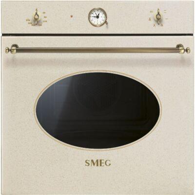SMEG SF800AVO beépíthető rusztikus hőlégkeveréses sütő - avena / bronz