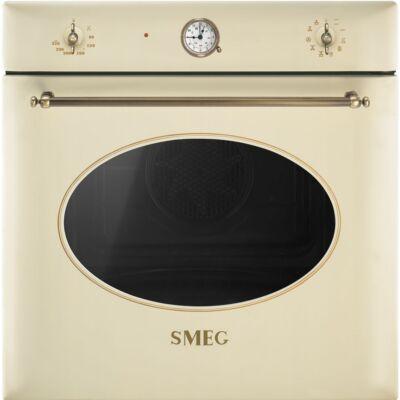 SMEG SF855PO hőlégkeveréses beépíthető rusztikus sütő - bézs / bronz
