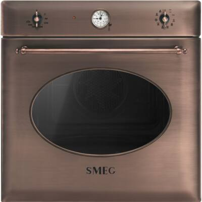 SMEG SF855RA hőlégkeveréses beépíthető rusztikus sütő - vörösréz