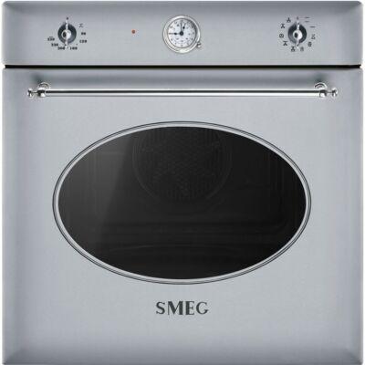 SMEG SF855X hőlégkeveréses beépíthető rusztikus sütő - rozsdamentes acél / ezüst