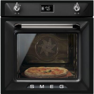 SMEG SFP6925NPZE1 beépíthető rusztikus pirolitikus sütő - fekete