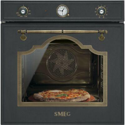SMEG SFP750AOPZ beépíthető rusztikus pirolitikus hőlégkeveréses sütő - antracit / bronz