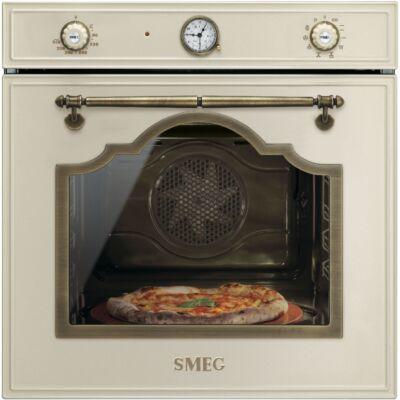 SMEG SFP750POPZ beépíthető rusztikus pirolitikus hőlégkeveréses sütő - bézs / bronz