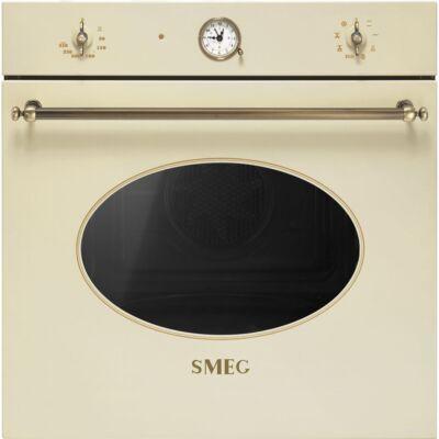 SMEG SFT805PO beépíthető rusztikus hőlégkeveréses sütő - bézs / bronz