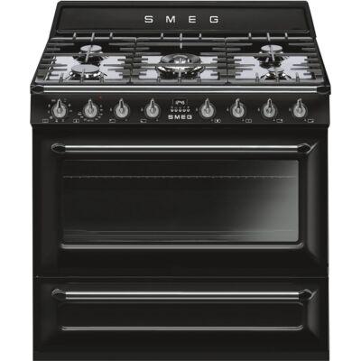 SMEG TR90BL9 szabadonálló kombinált tűzhely - COOKER - fekete