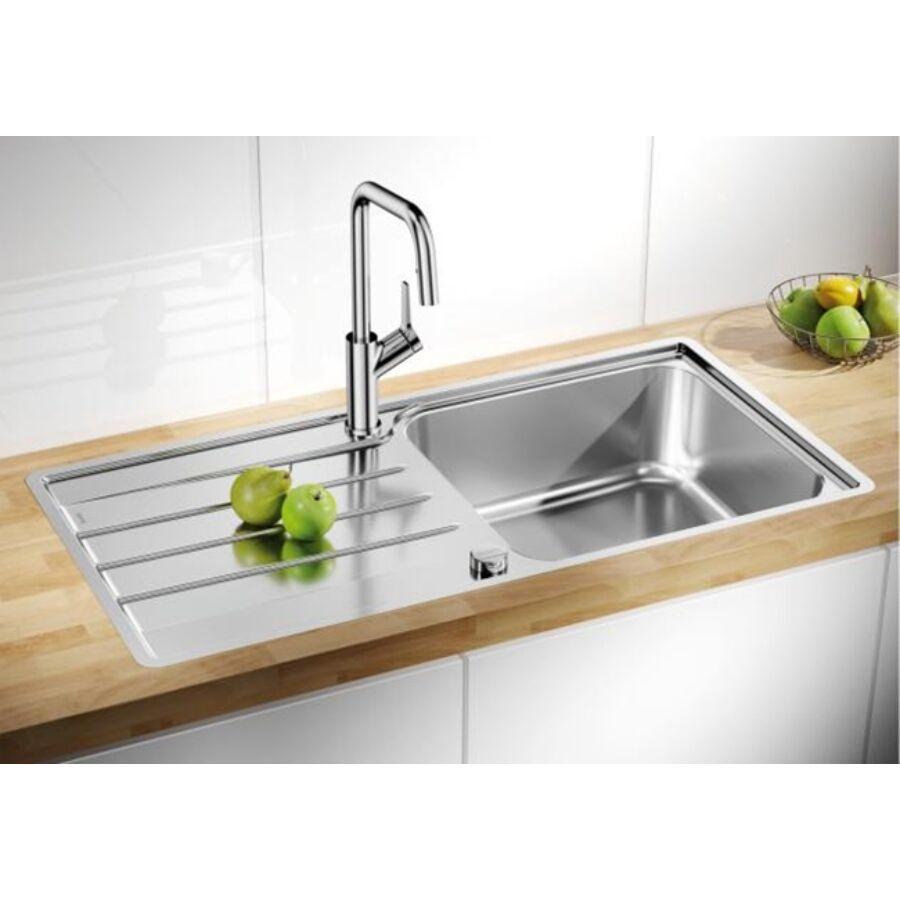 blanco lemis xl 6 s if rozsdamentes mosogat t lca k t csaplyuk furattal. Black Bedroom Furniture Sets. Home Design Ideas