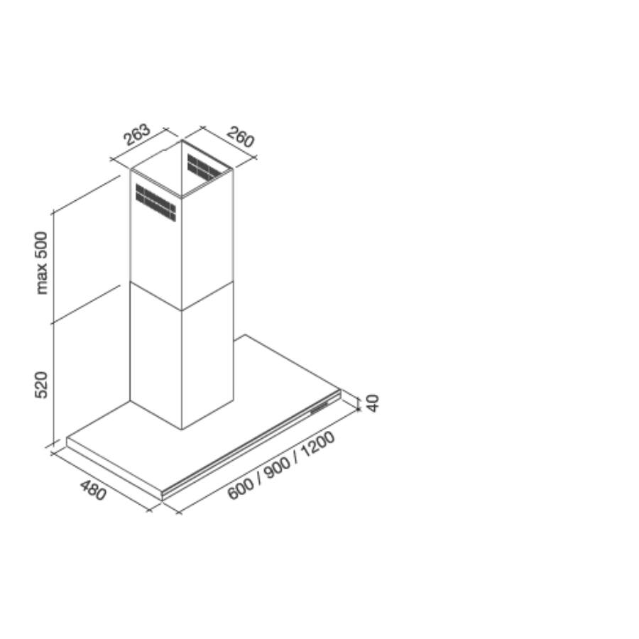 falmec lumen 90 fali k rt s p relsz v inox. Black Bedroom Furniture Sets. Home Design Ideas